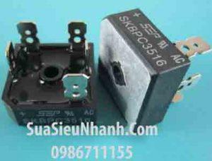 Tên hàng: SKBPC3516 Diode chỉnh lưu cầu 3 pha 35A 1600V chân dẹt;  Mã: SKBPC3516;  Kiểu chân: cắm dẹt;  Thương hiệu: SEP;  Dùng cho: Vật tư biến tần, vật tư servo;  Hàng tương đương: SKBPC3516, MT3516A, MT3516, 36MT16, SKBPC2516, MT2516A, MT2516, 26MT16 DB 35-16;  Mã kho: SKBPC3516_-ic