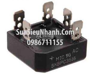 Tên hàng: SKBPC3516 Diode chỉnh lưu cầu 3 pha 35A 1600V chân dẹt;  Mã: SKBPC3516;  Kiểu chân: cắm dẹt;  Thương hiệu: SEP;  Dùng cho: Vật tư biến tần, vật tư servo;  Hàng tương đương: SKBPC3516, MT3516A, MT3516, 36MT16, SKBPC2516, MT2516A, MT2516, 26MT16 DB 35-16;  Mã kho: SKBPC3516_153