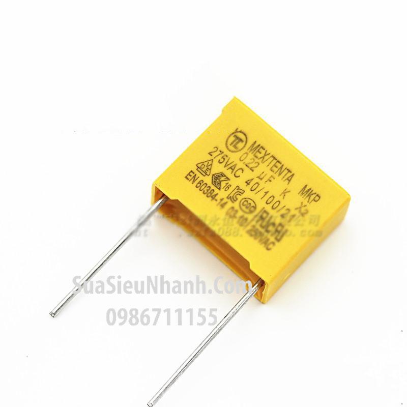 Tên hàng: Tụ 0.22uF 275VAC 224 MKP X2; Mã: MKPX20.22uF275V