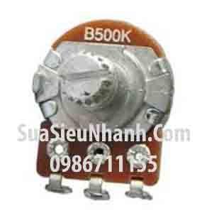 Tên hàng: WH148 B500K Biến trở ampli đơn, tay vặn dài 15mm;  Mã: WH148-B500K