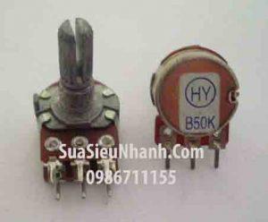 Tên hàng: WH148 B50K Biến trở ampli đơn, tay vặn dài 15mm;  Mã: WH148-B50K