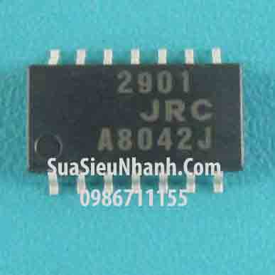 Tên hàng: JRC2901 ,JRC 2901 ,SOP14 5.2mm IC thuật toán; Mã: 2901JRC; Kiểu chân: dán 14 chân SOP-14 5.2mm; Dùng cho: vật tư biến tần; Phân nhóm: IC thuật toán; Mã kho: 2901JRC_-ic