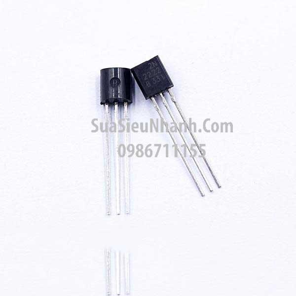 Tên hàng: MPS2222 2N2222A 2N2222 TO92 NPN Transistor 0.6A 40V; Mã: 2N2222A; Kiểu chân: cắm TO-92; Hàng tương đương: MPS2222 2N2222A 2N2222; Phân nhóm: NPN Transistor