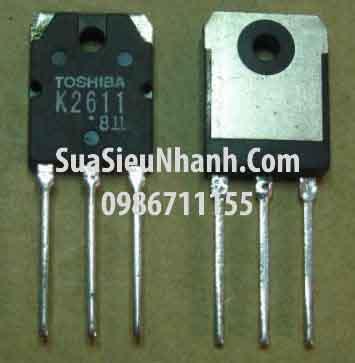 Tên hàng: 2SK2611 K2611 TO3P N MOSFET 9A 900V (TM); Mã: 2SK2611_OLD; Kiểu chân: cắm TO-3P; Thương hiệu: TOSHIBA; Xuất xứ: tháo máy; Mã kho: 2SK2611_OLD_fdz