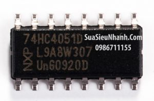 Tên hàng: 74HC4051D 74HCT4051D IC số;  Kiểu chân: dán SOP-16 3.9mm;  Hãng sx: PHILIP;  Mã: 74HC4051D