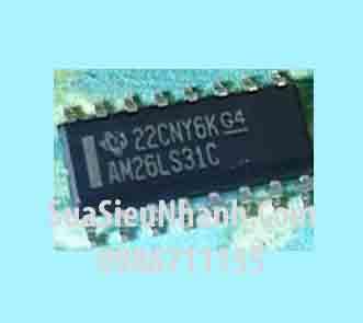 Tên hàng: AM26LS31CDR AM26LS31C AM26LS31 SOP16 3.9mm IC truyền thông Quad Receiver RS-422; Mã: AM26LS31C_3.9; Hãng sx: TI; Kiểu chân: dán SOP-16 3.9mm; Hàng tương đương: AM26LS31, 26LS31; Mã kho: AM26LS31C_088