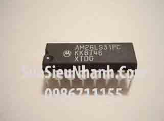 Tên hàng: AM26LS31PC Quad Line Driver with NAND Enabled; Kiểu chân: cắm DIP-16; Mã: AM26LS31PC; Dùng cho: Vật tư biến tần, vật tư servo driver