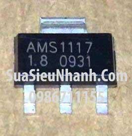 Tên hàng:AMS1117-1.8 IC Nguồn ổn áp 1.8V; Kiểu chân: dán SOT223