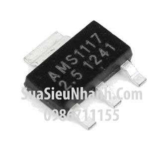 Tên hàng:AMS1117-2.5 IC Nguồn ổn áp 2.5V; Kiểu chân: dán SOT223