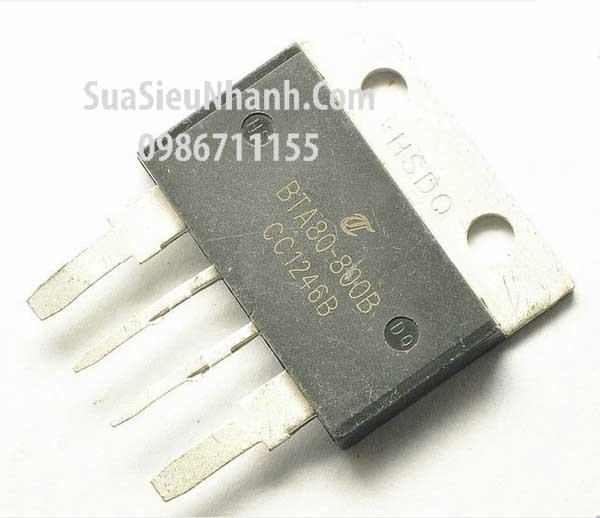 Tên hàng: BTA80-800B BTA80 TOP4 TRIAC 80A 800V; Mã: BTA80-800B; Kiểu chân: cắm TOP4; Thương hiệu: ST; Hàng tương đương: BTA80-600A, BTA80-600B, BTA80-600C; BTA80-600E, BTA80-700A, BTA80-700B, BTA80-700C; BTA80-700E, BTA80-800A, BTA80-800B, BTA80-800C; BTA80-800E, BTA80-1200A, BTA80-1200B, BTA80-1200C; BTA06-1200E; Phân nhóm: TRIAC