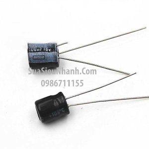 Tên hàng: Tụ hóa 100uF 16V 100uF 5x7mm;  Mã: CAPP-100uF16V