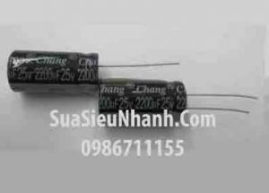Tên hàng: Tụ hóa 2200uF 25V 2200uF;  Mã: CAPP-2200uF25V