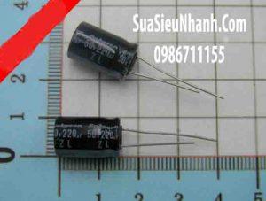 Tên hàng:Tụ hóa 220uF 50V 220uF 10x16mm;  Mã: CAPP-220uF50V