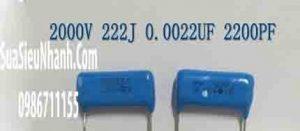 Tên hàng: CBB 2000V 222J 2KV0.0022UF 2200PF 2000V 2.2nf