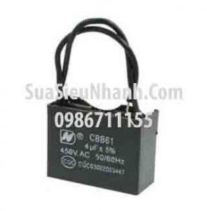 Tên hàng: Tụ 4uF 450VAC 2 dây;  Mã: CBB61_4uF450VAC;  Dùng cho: vật tư quạt điện, vật tư điều hòa;   Tag: tụ quạt 4uF 450VAC, tụ điều hòa 4uF 450VAC
