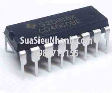 Tên hàng: CD4060BE CD4060 IC Số; Kiểu chân: cắm DIP-16; Hãng sx: TI; Mã: CD4060BE