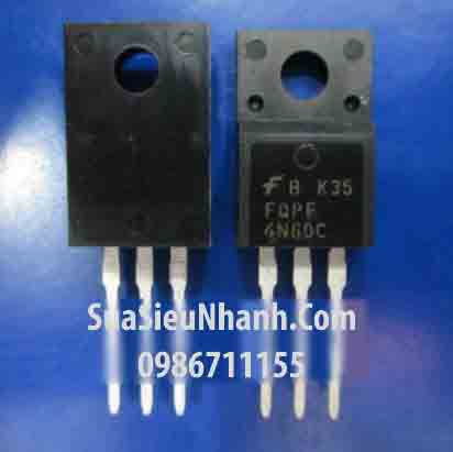 Tên hàng: FQPF4N60 4N60 TO220 N MOSFET 4A 600V; Mã: FQPF4N60C; Kiểu chân: cắm TO-220F; Thương hiệu: TOSHIBA; Hàng tương đương: FQPF4N60B, 4N60B FQPF4N60C, 4N60C; Phân nhóm: N MOSFET