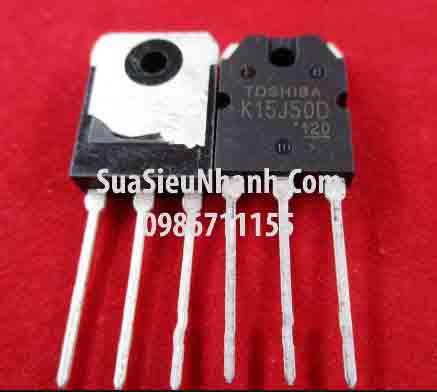 Tên hàng: TK15J50D K15J50D 15J50 TO3P N MOSFET 15A 500V 0.33R (TM); Mã: K15J50D_OLD; Kiểu chân: cắm 3 chân TO-3P; Thương hiệu: TOSHIBA; Xuất xứ: tháo máy; Phân nhóm: N MOSFET; Mã kho: TK15J50D_nzi