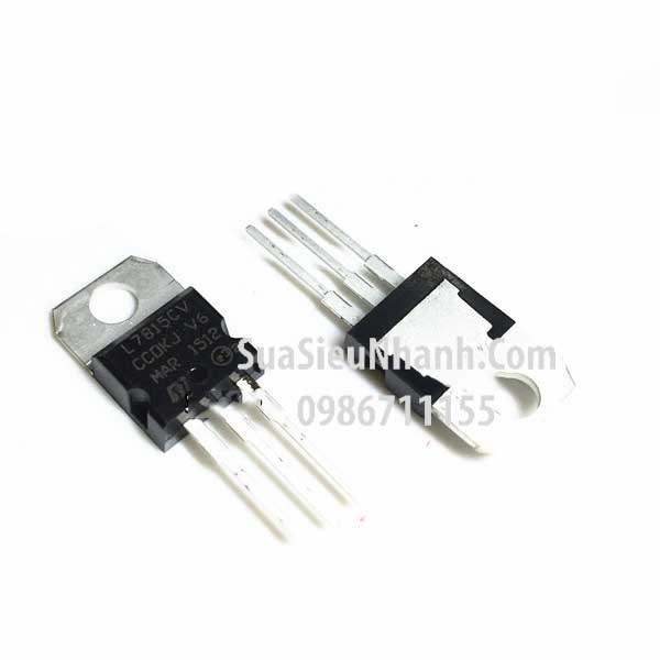 Tên hàng: L7815CV KA7815 LM7815 TO220 IC nguồn ổn áp 15V 1.5A; Mã: L7815CV; Kiểu chân: cắm TO-220; Thương hiệu: ST; Phân nhóm: IC nguồn