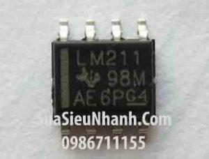 Tên hàng: LM211 LM211DR LM211D IC Thuật toán;  Kiểu chân: dán SOP-8;  Hãng sx: TI