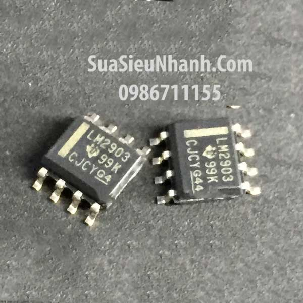 Tên hàng: LM2903DR LM2903DT LM2903DR2G LM2903 SOP8 IC thuật toán; Mã: LM2903; Kiểu chân: dán SOP-8; Thương hiệu: TI; Phân nhóm: IC thuật toán; Hàng tương đương: L2903 LM2903PSR LM2903 SOP8 TI