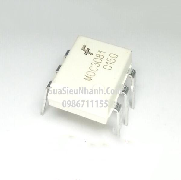 Tên hàng: MOC3081 Photo-TRIAC 800V; Kiểu chân: cắm DIP-6; Hãng sx: FAIRCHILD; Mã: MOC3081_DIP-6