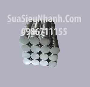 Tên hàng: NdFeB Nam châm vĩnh cửu siêu mạnh 8x2mm; Mã: NdFeB8x2