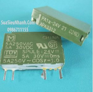 Tên hàng: PA1a-24V APA3312 Rơ le 4 chân 24V, 5A250VAC 5A 30VDC SPST 1 cặp tiếp điểm thường mở; Mã: PA1a-24V; Kiểu chân: cắm; Dùng cho: vật tư PLC; Phân nhóm: Relay 24V; Mã kho: PA1a-24V_-ic