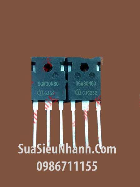 SGW30N60 30N60 TO247 IGBT 41A 600V; Mã: SGW30N60; Kiểu chân: cắm TO-247; Thương hiệu: Inifineon; Hàng tương đương: G30N60RUFD HGTG30N60RUFD IXGH30N60A 30N60A4D HGTG30N60A4D IXGH30N60BU1 G30N60C3D HGTG30N60C3D K30N60 K30N60HS G30N60B3D HGTG30N60B3D