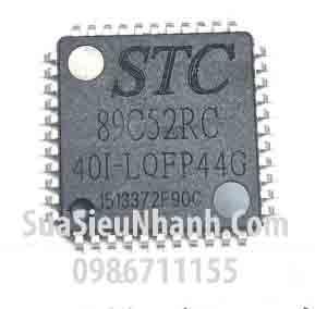 Tên hàng: STC89C52RC-40I-LQFP44G IC Vi xử lý;  Kiểu chân: dán LQFP44;  Mã: STC89C52RC-40I-LQFP44G