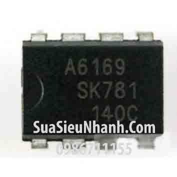 Tên hàng: A6169 STR-A6169 IC nguồn switching 8W 800V; Kiểu chân: cắm DIP-8; Hãng sx: Sanken; Mã: STR-A6169