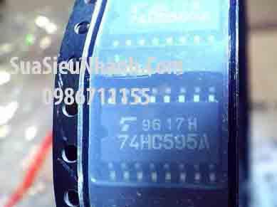 Tên hàng: 74HC595A TC74HC595A IC LOGIC Số; Kiểu chân: dán SOP-16 5.2mm; Hãng sx: TOSHIBA; Mã: TC74HC595A