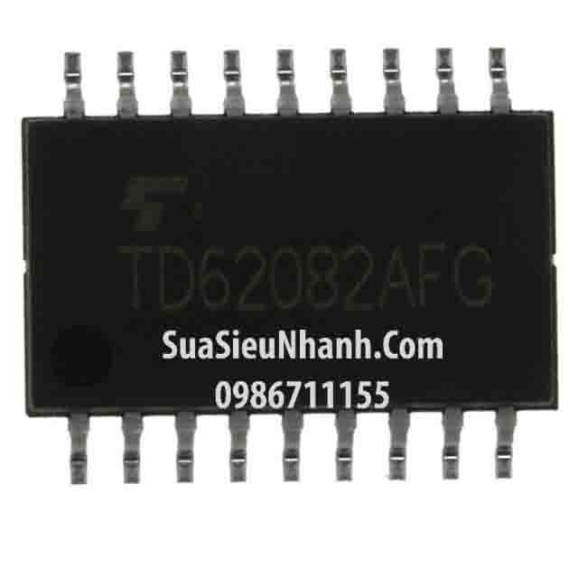 Tên hàng: TD62082AFG TD62082APG TD62082F TD62082 SOP18 5.2mm IC Driver 8ch Darlington Sink Driver; Mã: TD62082AFG; Kiểu chân: dán 18 chân SOP-18 5.2mm; Thương hiệu: Toshiba; Xuất xứ: chính hãng; Phân nhóm: IC DRIVER