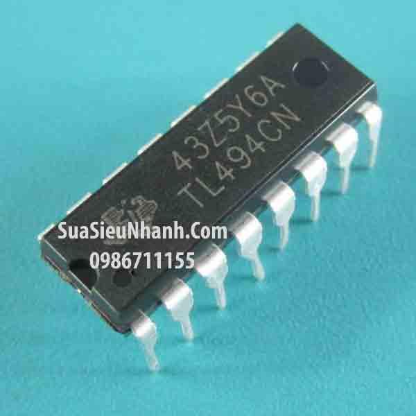 Tên hàng: TL494CN IC nguồn PWM; Kiểu chân: cắm DIP-16; Hãng sx: TI; Mã: TL494CN