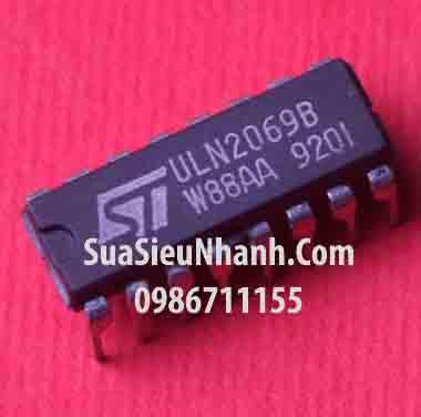 Tên hàng: ULN2069B IC Driver Darlington 1.5A 80V; Mã: ULN2069B_DIP16_ST; Hãng SX: ST; Kiểu chân: cắm DIP-16; Tag: ULN2069B ULN2064B ULN2068B