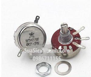 Tên hàng: WTH(118) 4K7-2W, WTH118 4K7-2W Biến trở 4.7K 2W;  Mã: WTH118-4K7-2W;  Dùng cho: Vật tư biến tần;  Thông số: Lỗ vít: M10x1mm;  Đường kính trục: 6mm;  Đường kính ngoài: 28.8mm, chiều dài tay vặn: 20mm;  Hàng tương đương: Triết áp 4K7 2W, biến trở 4K7 2W, triết áp 4.7K 2W;  Phân nhóm: Biến trở WTH118