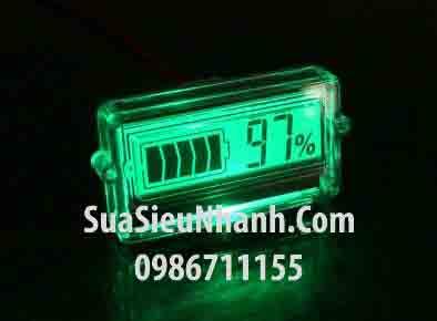 Tên hàng: Màn hình LCD hiển thị pin, acquy 12V màn màu xanh