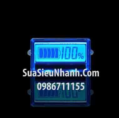 Tên hàng: Màn hình LCD hiển thị pin, acquy 24V màn màu xanh