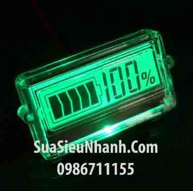 Tên hàng: Màn hình LCD hiển thị pin, acquy 48V màn màu xanh