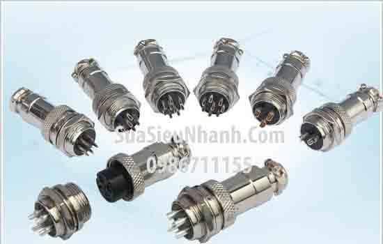 Tên hàng: Jack GX16-7P (Plug + socket); Mã: GX16-7P