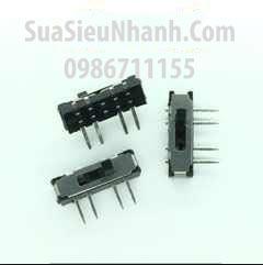 Tên hàng: MSS23D18 Công tắc gạt 8 chân, 3 vị trí giữ, hàn thẳng xuyên lỗ, L13xW3.5xH3.5mm; Mã: MSS23D18; Hàng tương đương: MSS-23D18