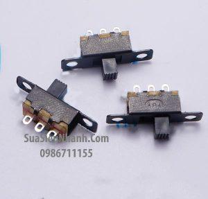 Tên hàng: SS12F15 Công tắc gạt 3 chân, 3 vị trí giữ, hàn thẳng xuyên lỗ hoặc bắt ốc, L19.6xW5.5xH5.0mm;  Mã: SS12F15;  Hàng tương đương: SS-12F15G4 1P2T