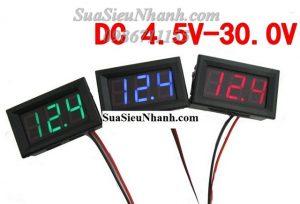 Vôn kế 4.5-30VDC, X46*Y27mm, có chống ngược nguồn Mã: DSN-DVML-568-2 Thương hiệu: D-SUN Xuất xứ: China Dùng cho: Vật tư xe điện, xe nâng,...các thiết bị khác Phân nhóm: Module-Bo mạch Mã kho: DSN-DVML-568-2_697