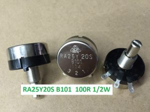 RA25Y20S B101 Biến trở 100R TOCOS Lỗ trục 6mm D25mm