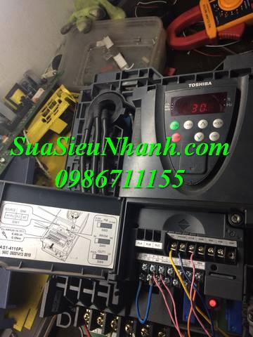 Sửa Biến tần Toshiba 11kW VFAS1-411PL Serial: 0018 Lỗi có tải thì tụt tần số, mất hiển thị