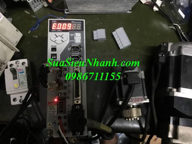 Sửa Ac Servo Driver RS OEMax 200W Model: CSD5_02BX1 Serial: 0136 Lỗi nguồn, lỗi E.009, lỗi E.UdvtG