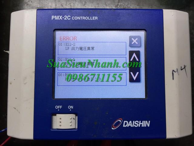 Sửa chữa Bộ điều khiển động cơ rung DAISHIN PMX-2 CONTROLLER Model: PMX-2C Serial: 5236 Mô tả hư hỏng ban đầu: Lỗi quá tải E02-1 (PF) E12-1 (PF) E12-2 (LF)